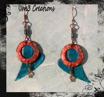 Fire and Ice Earrings by kelleejm1