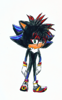 Sonic and Shadow Kid Sashi by Mecha-fox-cat-rabbit