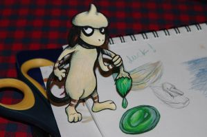 Smeargle - Pokemon Paperchild by RivkahWinter