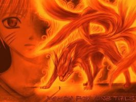 nine-tailed-fox naruto by kattangforever