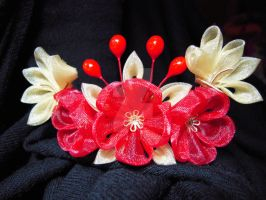 Royal Chinese kanzashi by lovelypeachbunny