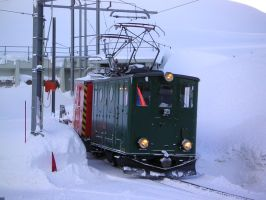 Jungfraubahn in winter 2 - loco with rotary by dottys-friend