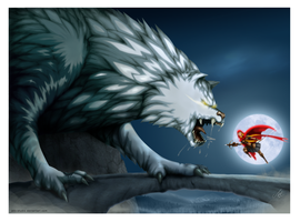 Red riding hood Vs. Bad wolf by AKK-STUDIO
