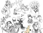 Buncha Sketches of Things by TigrisTheLynx