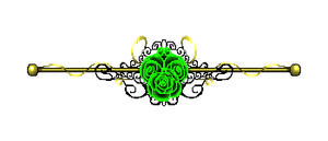 Green Rose Border Gold by CosmicDragonJazz