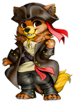 Zach as an pirate painties(COMMISSION) by Perma-Fox