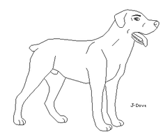 rottweiler lineart by J-Dove