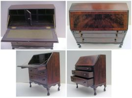 Queen Anne Bureau by Rockinfroggi