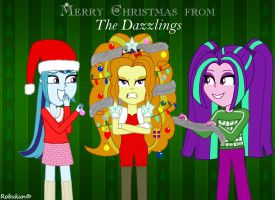 Merry Christmas from the Dazzlings by Robukun
