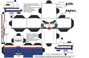 wing zero part 1 cubee craft by Grim-paper