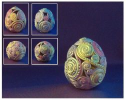 Pastel Filagree Egg by Glori305