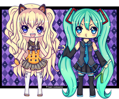 .:Seeu and Miku:. by rainbowstar-chan