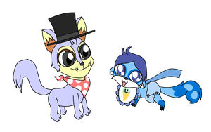 Neopets - SilvertheHedgehog449 and Baby_Kaito_chan by Bokeol
