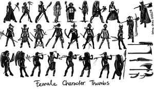 Vodou Female thumbnails by fjiantra