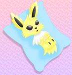 Pokemon Jolteon pillow colored by MikariStar