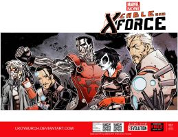 Fake Cable and X-Force cover by lroyburch