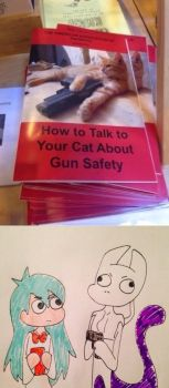 Mew2's gun safety  by zoozybeencloned