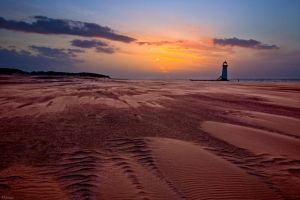 Ripples And Sunset-Talachre by Phil-Norton