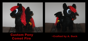 Custom Pony - Comet Fire by Milayou