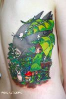 totoro tattoo by NikaSamarina