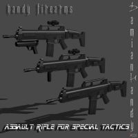 Assault Rifle for Special Tactics Pack by DamianHandy