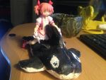 Madoka's new inflatable whale. by firelightyear