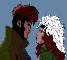 Uncanny X-Men: Gambit X Rogue by adamantiumdevil