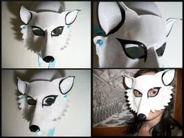 Arctic Fox Mask by Jedi-With-Wings