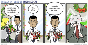 The Adventures of Business Cat - Secret Santa by tomfonder