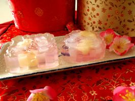 Crystal Mooncakes by IoaleKelina