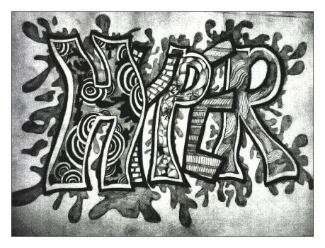 hyper typography by hibasarts