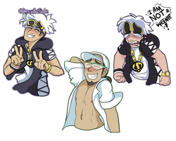 Guzma / Kukui Expression Meme by AllKindsOfYES