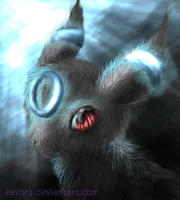 Realistic Shiny Umbreon With Red Eyes! by Eevora