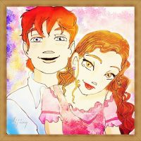 ron and hermione by ljiuy