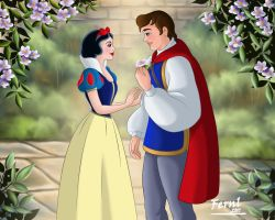 SNOW WHITE AND PRINCE by FERNL