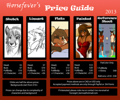 Commission Price Guide 2013 by horsefever