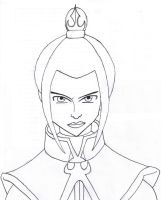 Azula lineart by SvalaW