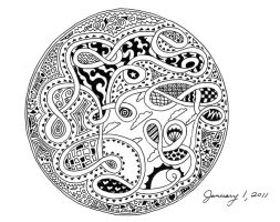 Zentangle 16 - Let you know by Llyzabeth