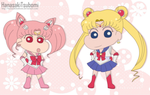 Sailor Moon y Chibi moon -Shin chan version- by HanasakiTsubomi
