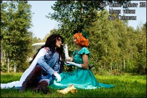 Lord Nephrite and Naru Osaka by Vaishravana
