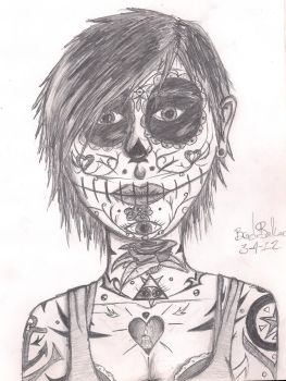 A Candyskull-style Chick by MetalAddiction