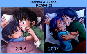 Ranma and Akane - Now and Then by irishgirl982
