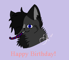 HAPPY LATE BDAY AikazWolf by Candlefire29