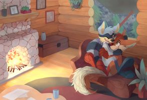 Cabin Snuggle by yassui