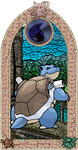 Blastoise 'Stained Glass' by Jaimelynh