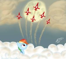 Dash Jet Fly Over by HawaiianBacon