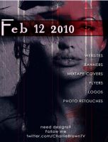 CLUB FLYERS Angelina Jolie by CBrownDESIGNS