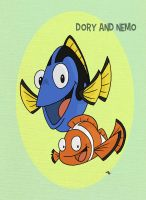 Pixar Madness Month - Day 5 - Dory and Nemo by tyrannus