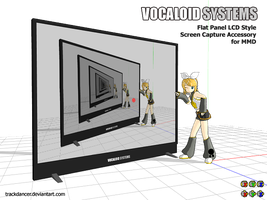MMD Accessory - large free standing LCD Unit by Trackdancer
