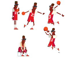 23/04/2014 Basketball player - Simple characters by szlapa